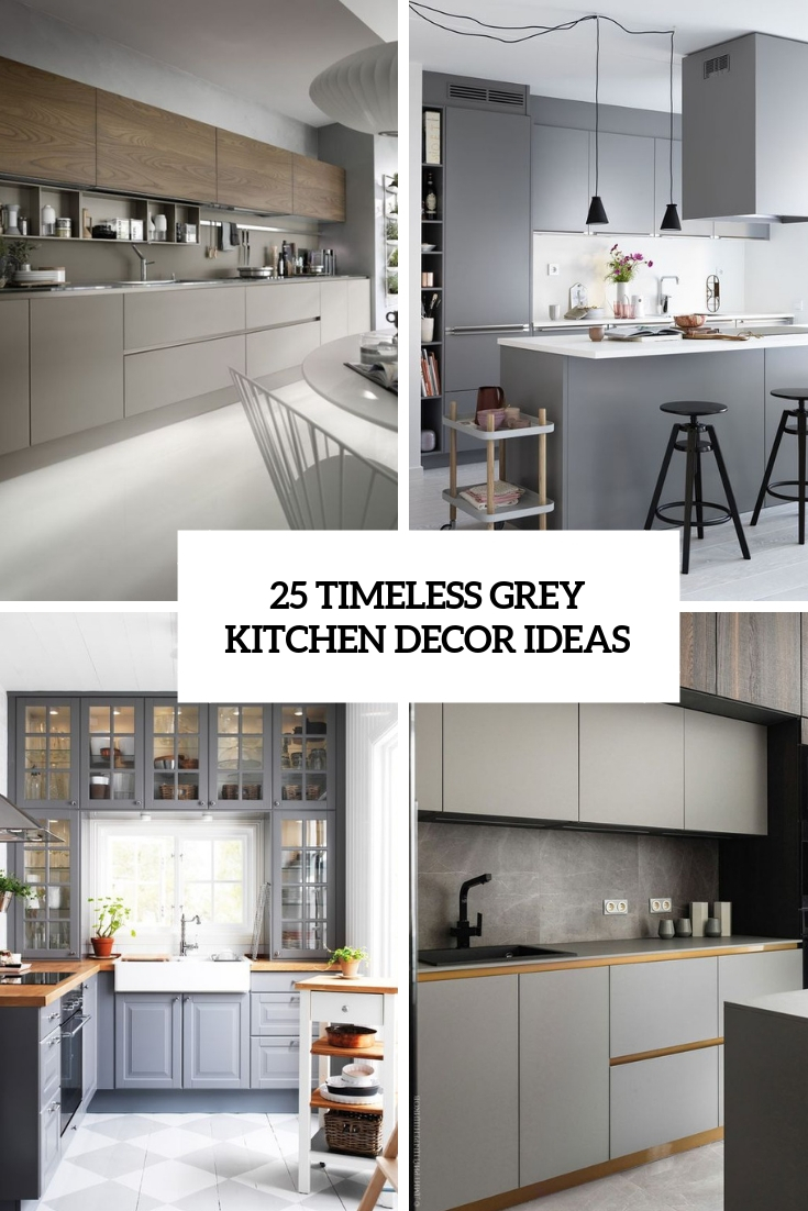 25 Timeless Grey Kitchen Decor Ideas - Shelterness