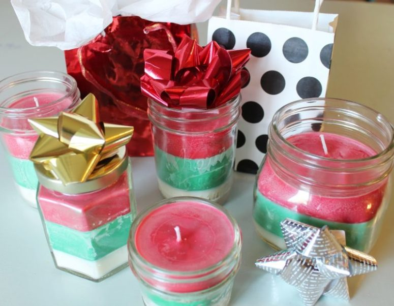 DIY multi scented and multi layered Christmas candles (via www.homedit.com)