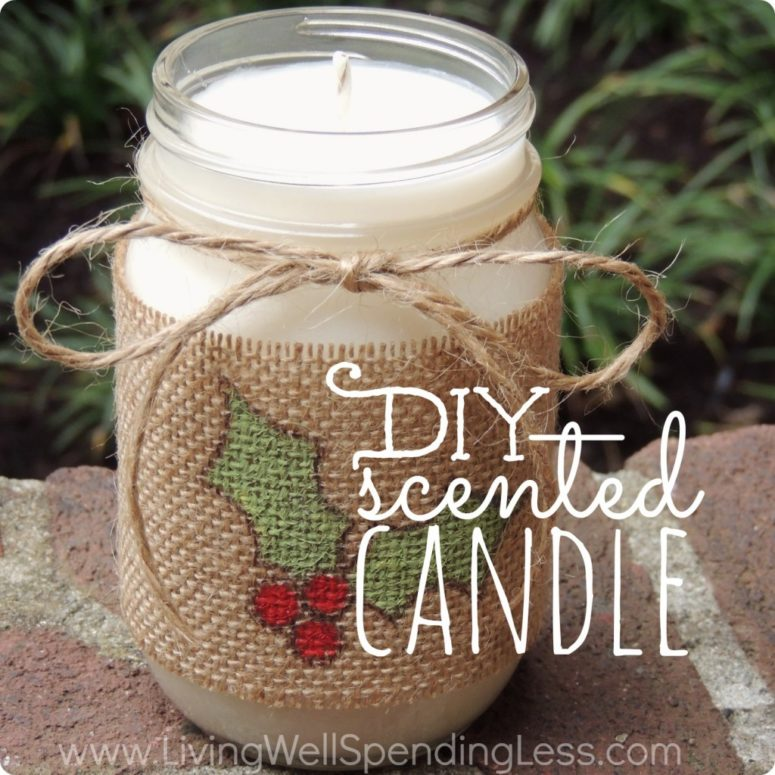 DIY cinnamon scented Christmas candles (via www.livingwellspendingless.com)