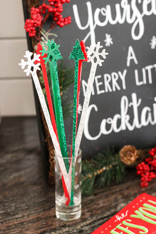 DIY holiday drink stirrers and glass markers in one (via addicted2diy.com)