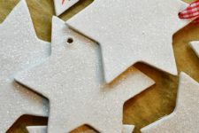 DIY Christmas clay star ornaments in two ways