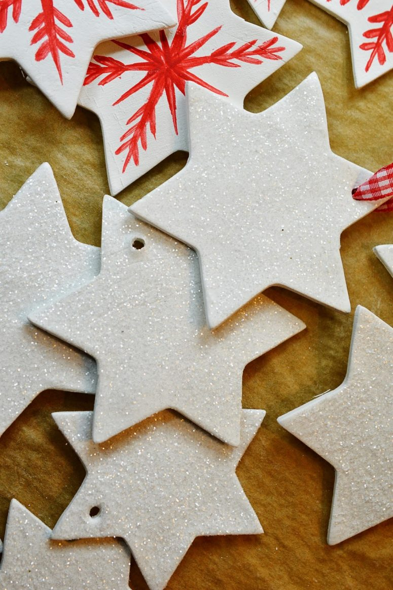 DIY Christmas clay star ornaments in two ways (via mottesblog.blogspot.com)