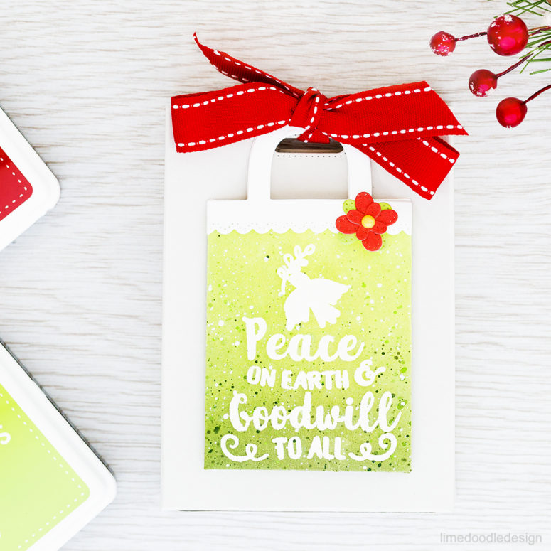 DIY gift bag with a card pocket for Christmas (via limedoodledesign.com)