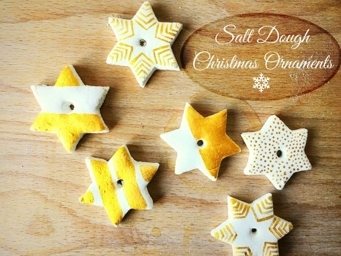 DIY gold star salt dough Christmas ornaments (via life-athon.com)