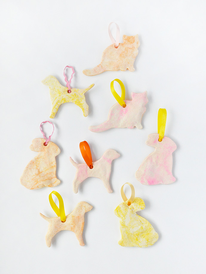 DIY colorful pet slt dough Christmas ornaments (via www.handmadecharlotte.com)
