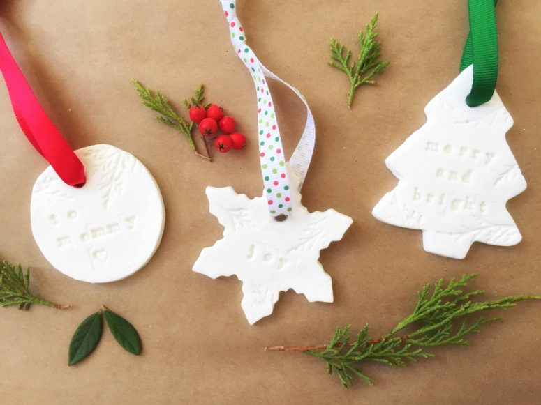 DIY printed and cutout salt dough Christmas ornaments (via www.kiwico.com)