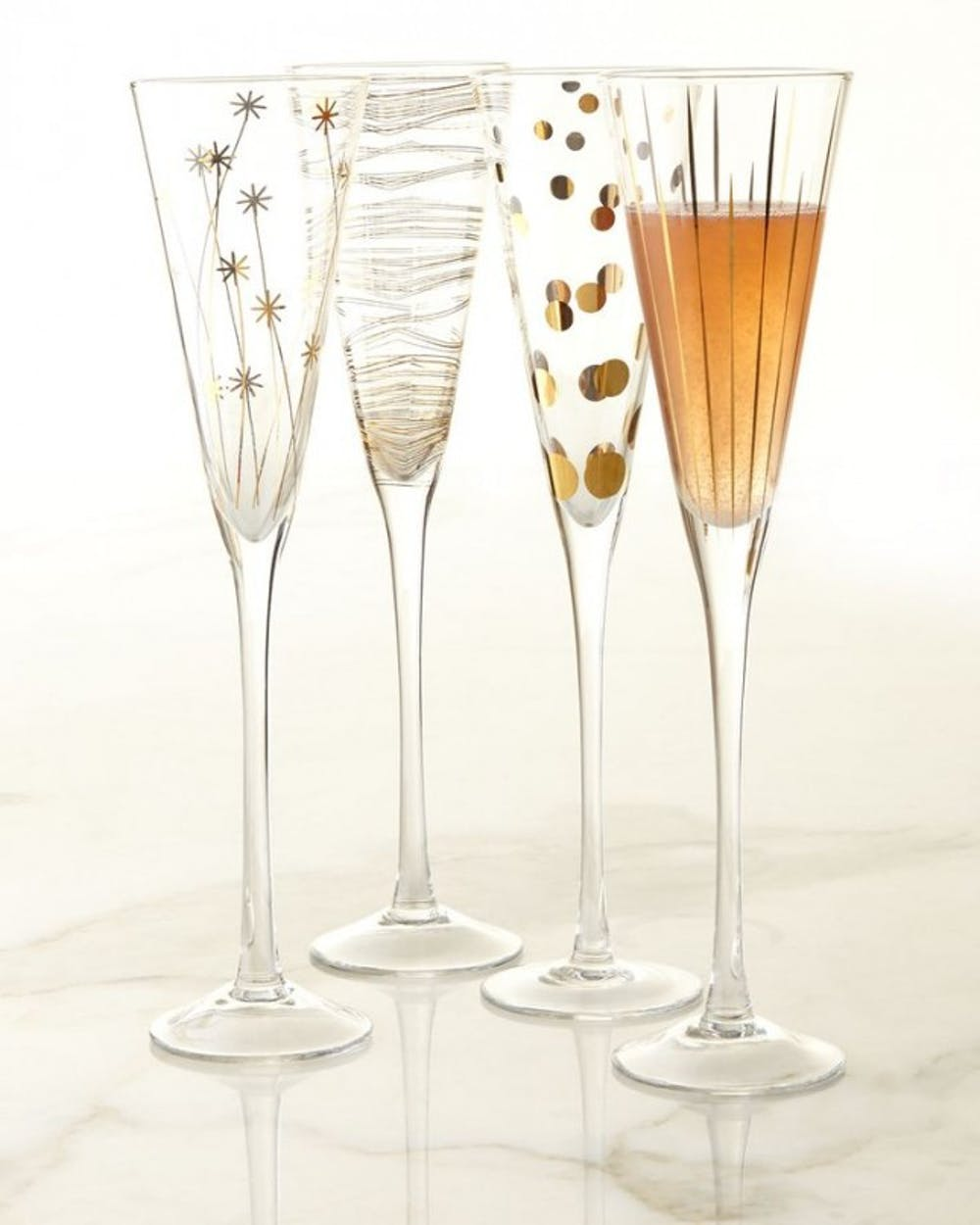 chic DIY New Year's party glasses set