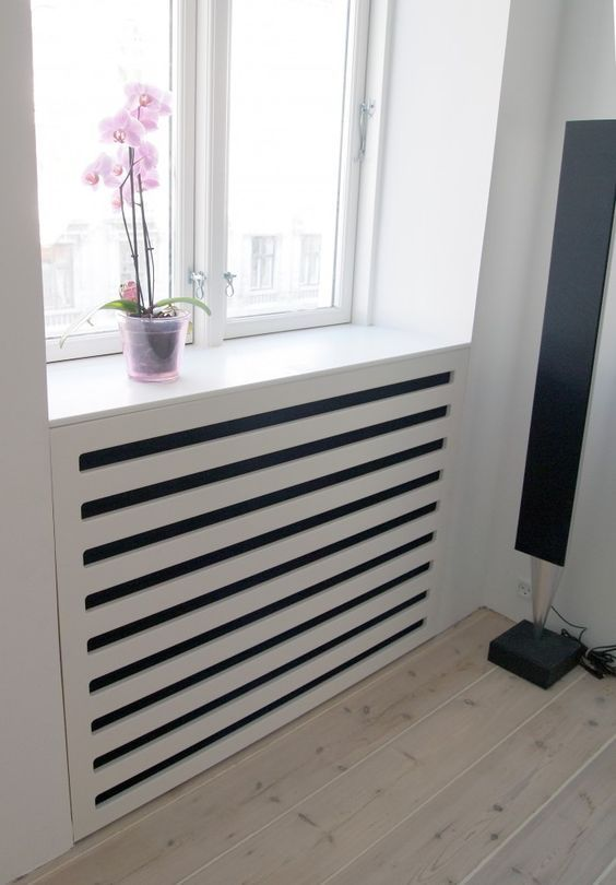 integrate a plank screen under your windowsill and you'll get a very comfy unit