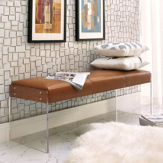 practical modern bench for an entryway