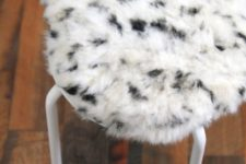 10 IKEA Marius stool is very easy to renovate with some faux fur attaching it to the top