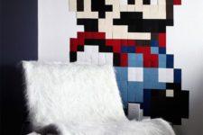 11 IKEA Emmabo hack with white faux fur is a bold modern idea
