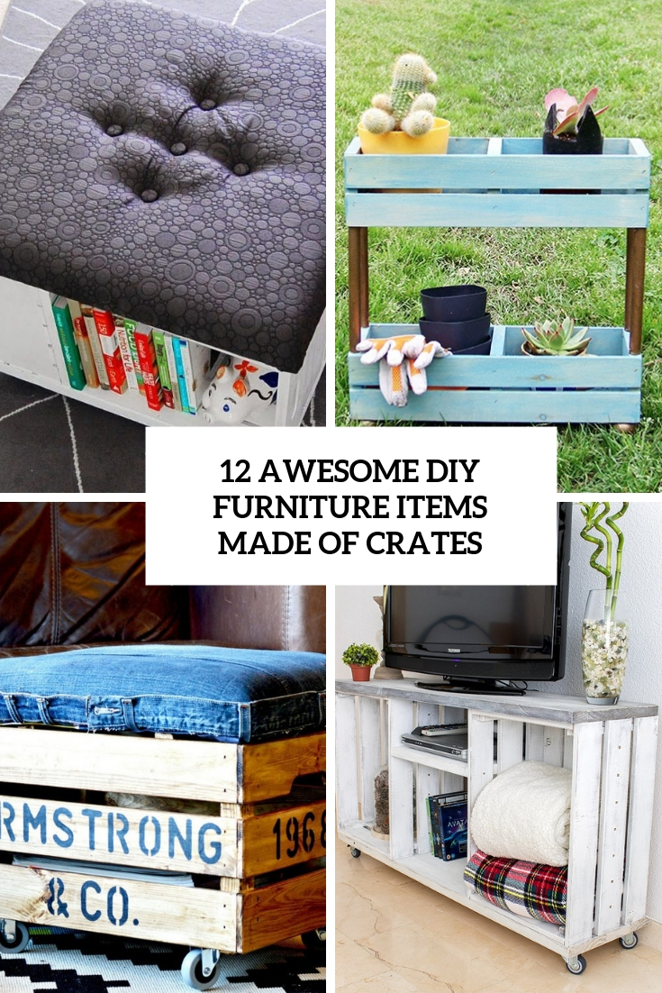 awesome diy furniture items made of crates cover