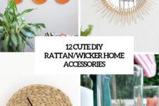 12 cute diy rattan wicker home accessories cover