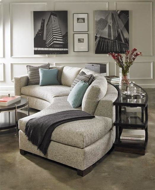 such a stylish grey curved sofa will change the look of your living room making it fresher