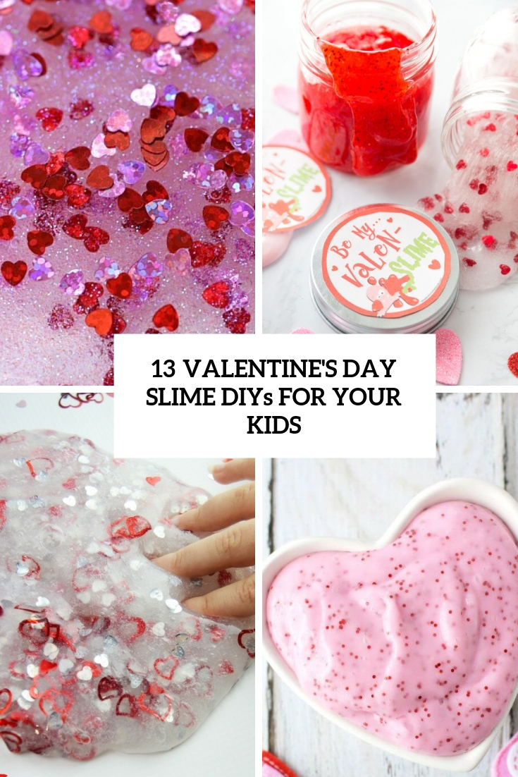 13 Valentine's Day Slime DIYs For Your Kids