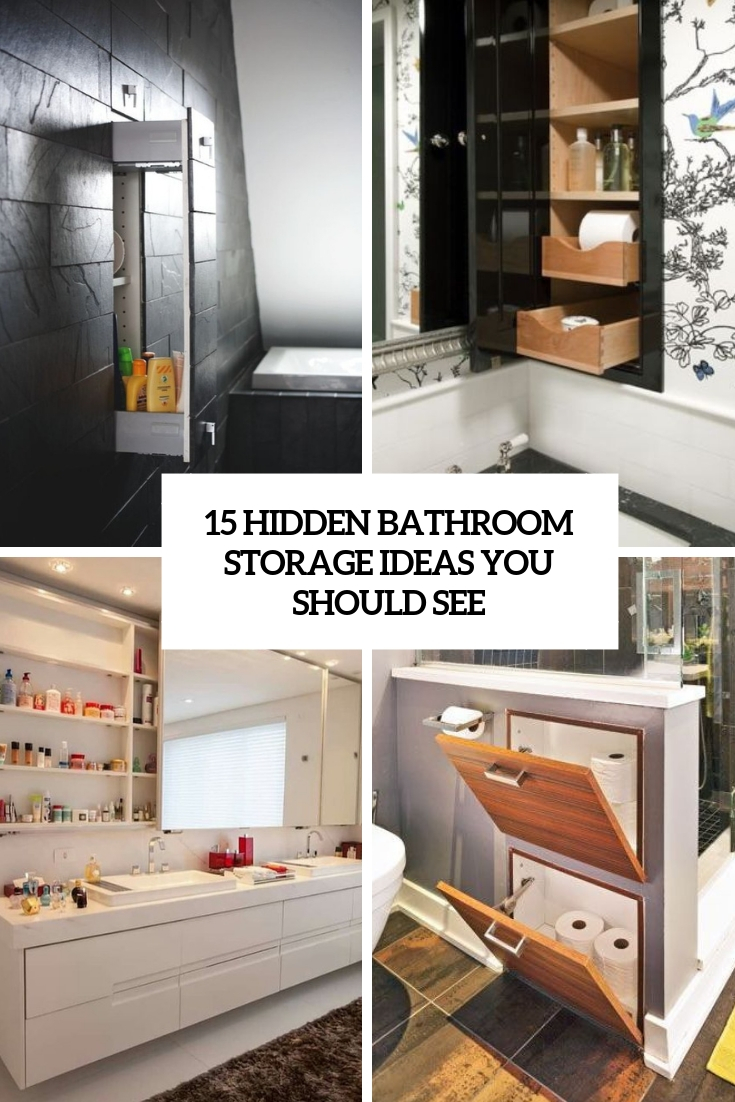 hidden bathroom storage ideas you should see cover