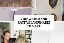 7 diy wicker and rattan lampshades to make cover