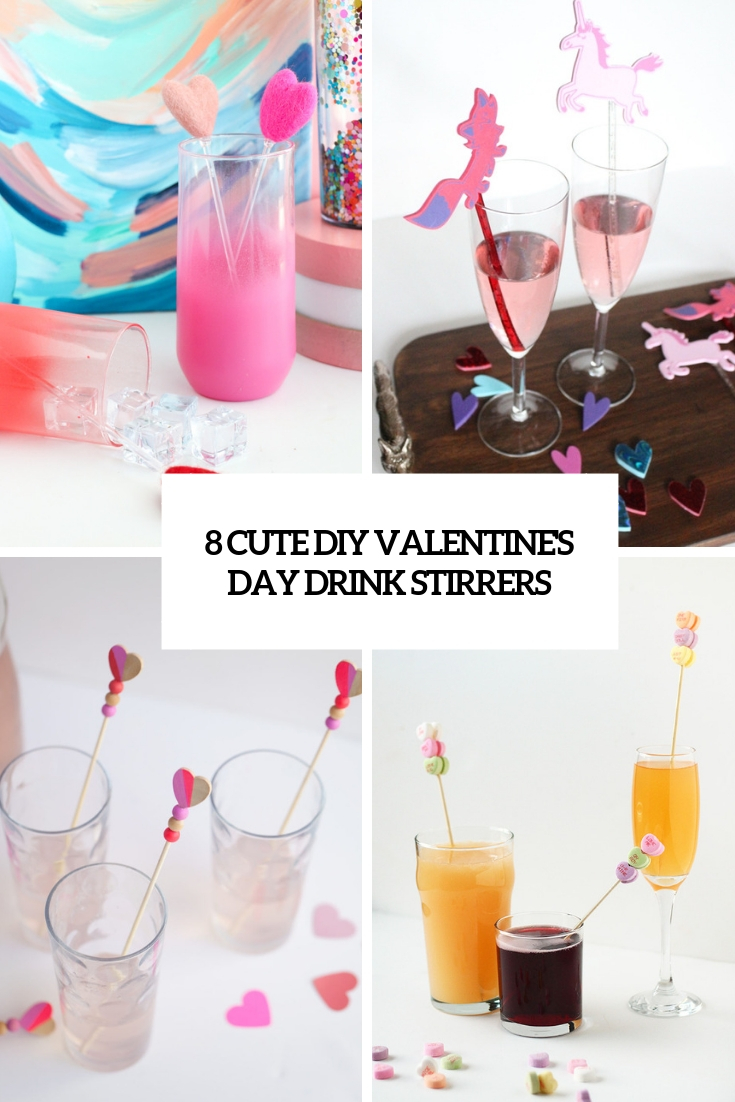 8 cute diy valentine's day drink stirrers cover