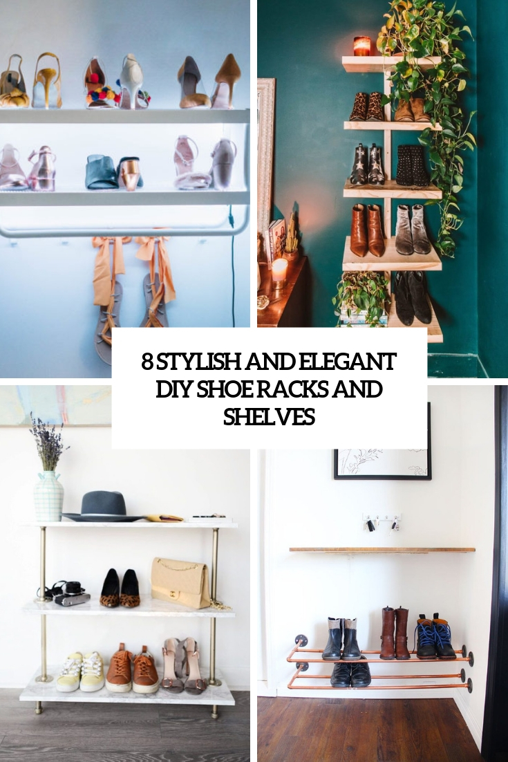 8 stylish and elegant diy shoe racks and shelves cover
