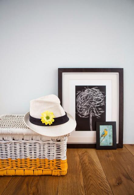 DIY quick rattan basket makeover (via www.100decors.com)