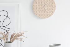 DIY rattan clock for a beachy touch in your space