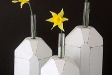 DIY faceted bud vases