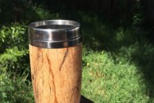 DIY wooden travel mug as a cool gift