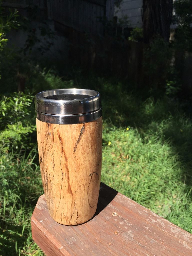 DIY wooden travel mug as a cool gift (via www.instructables.com)