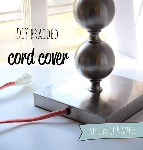 DIY yarn covered lamp cord (via www.fabricpaperglue.com)