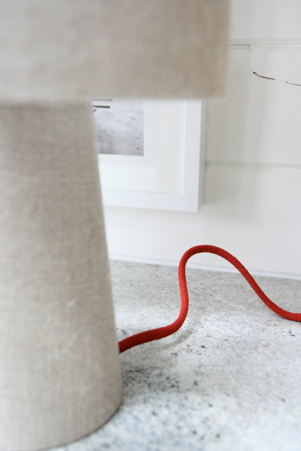 DIY colorful sueded cord cover (via www.housetweaking.com)