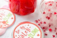 DIY red glitter slime kids' activity