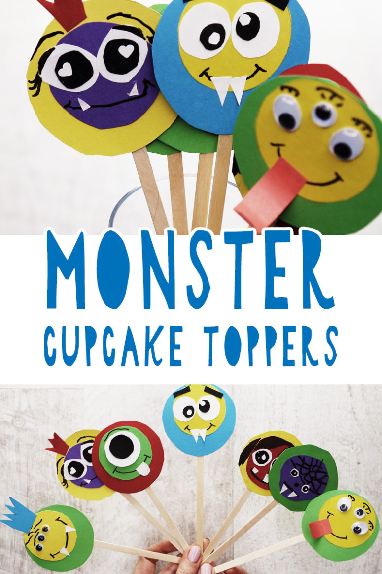 DIY Monster Cupcake Toppers For Kids' Parties