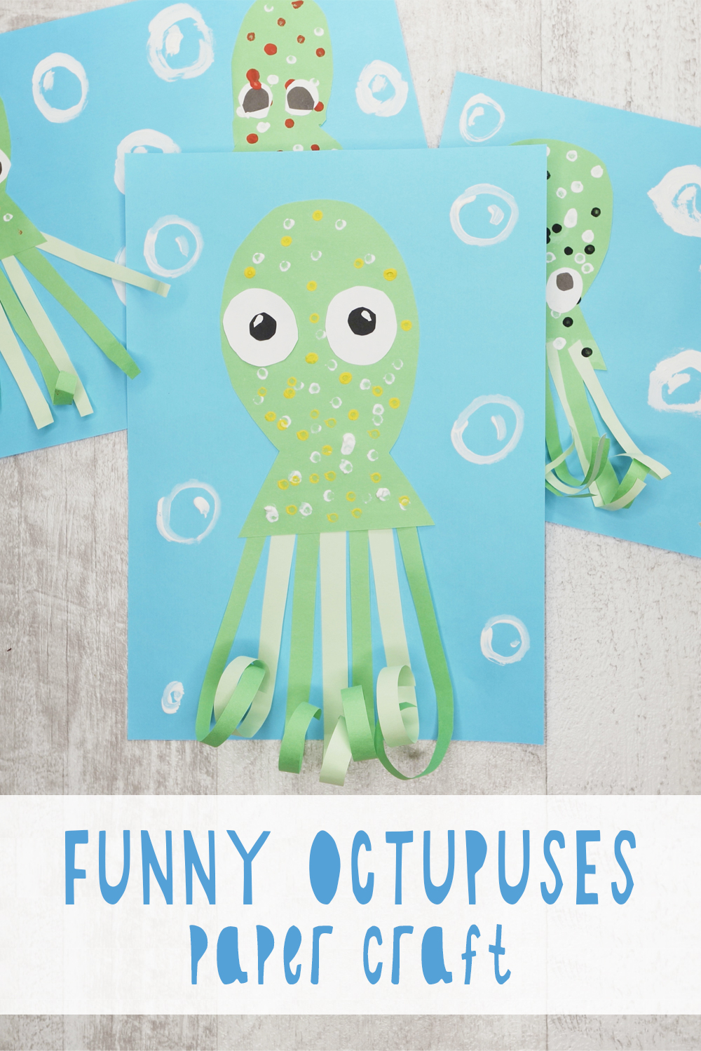 funny octopuses paper craft for your kids
