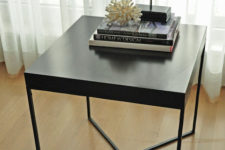 02 a chic Lack table hack in black with a new metal base will easily fit any modern or Scandinavian space