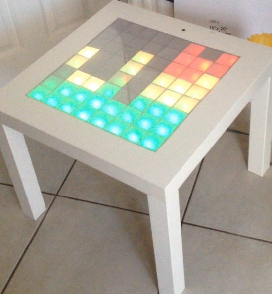 a bright IKEA Lack table music LED visualiser is a nice way to spruce up your parties