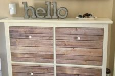 04 a cozy IKEA Hemnes shoe storage hack with aged wood pieces is a gorgeous rustic idea