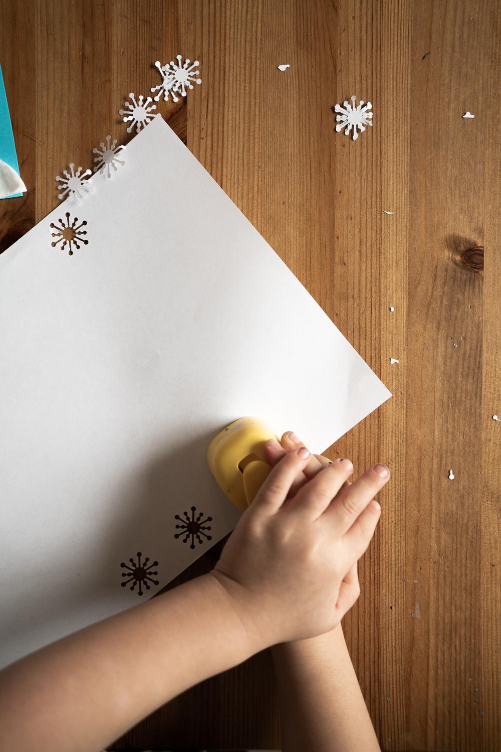 cute snow leopard handprint craft for kids