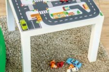 an IKEA hack to make a play table for kids