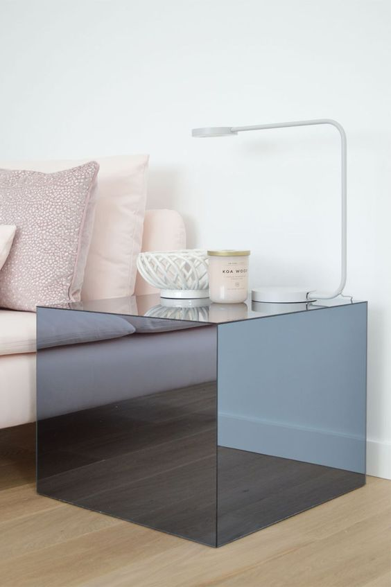 a gorgeous Lack table hack done with plexiglass will accent a minimalist or contemporary space