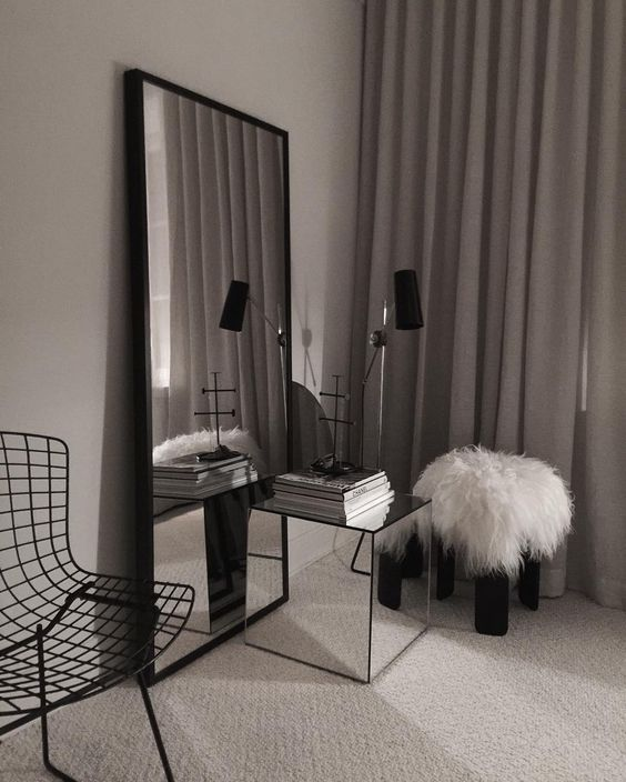 Ikea Lack table renovated with mirrors is a stylish coffee or side table suitable for many interior types