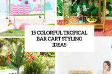 15 colorful tropical bar cart styling ideas cover