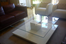 a modern IKEA coffee table hack