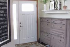 19 spruce up your IKEA Hemnes shoe storage with stain giving it a natural wood look