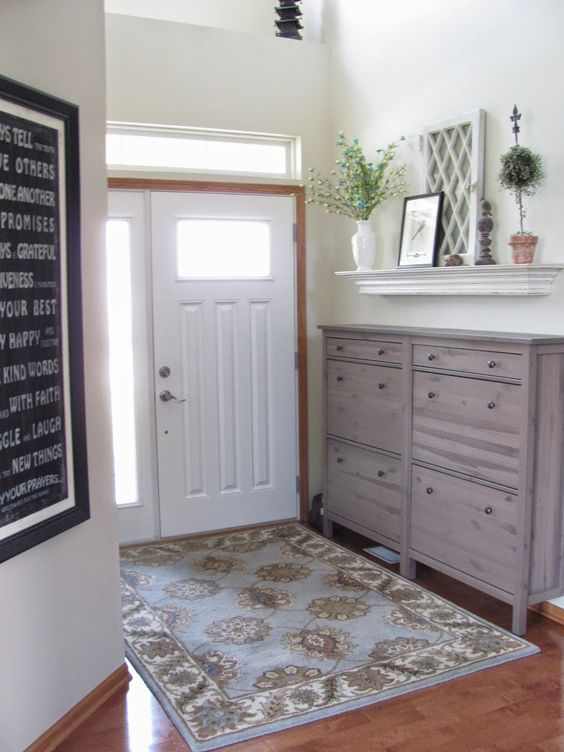 spruce up your IKEA Hemnes shoe storage with stain giving it a natural wood look