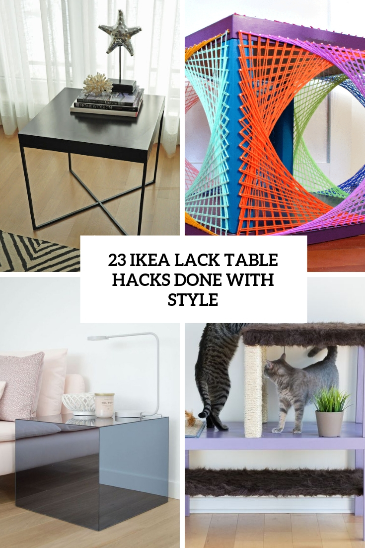 23 IKEA Lack Table Hacks Done With Style