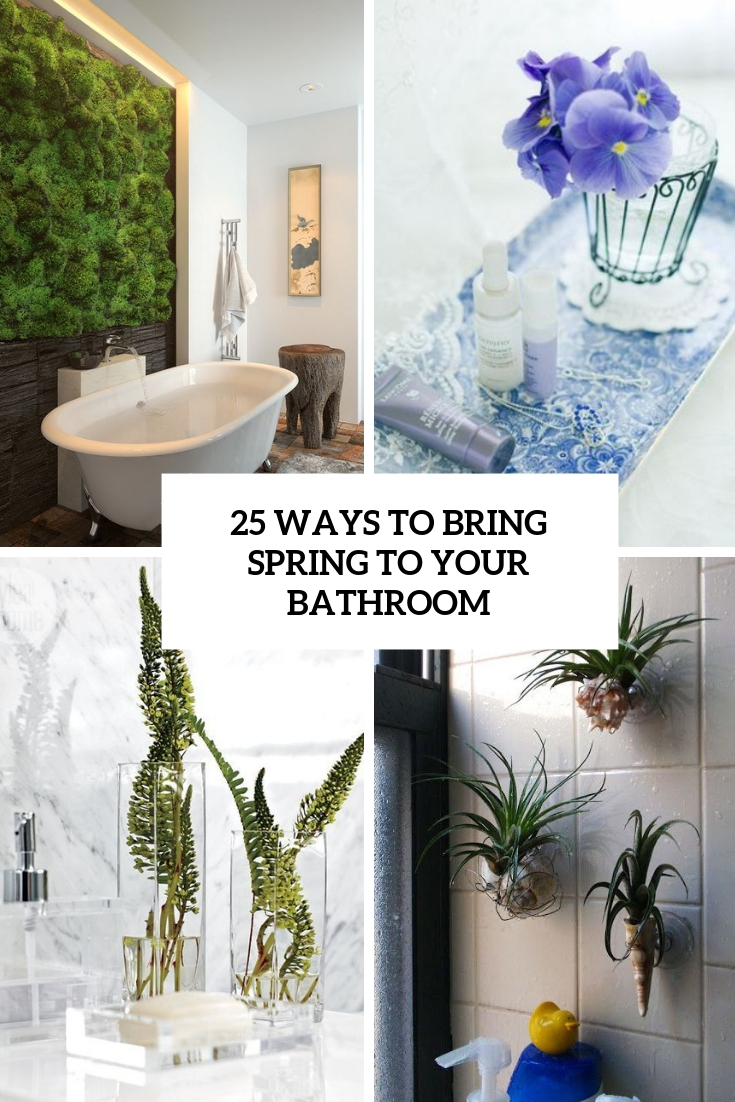 ways to bring spring to your bathroom cover