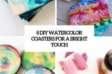 8 diy watercolor coasters for a bright touch cover