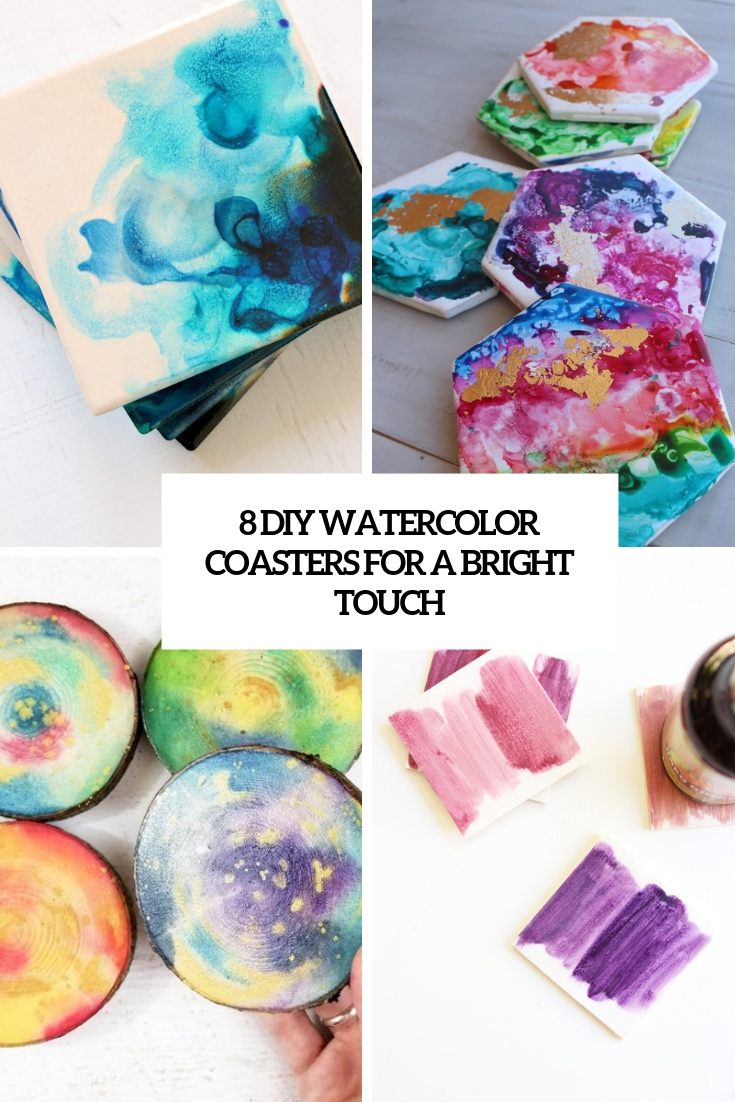 8 DIY Watercolor Coasters For A Bright Touch