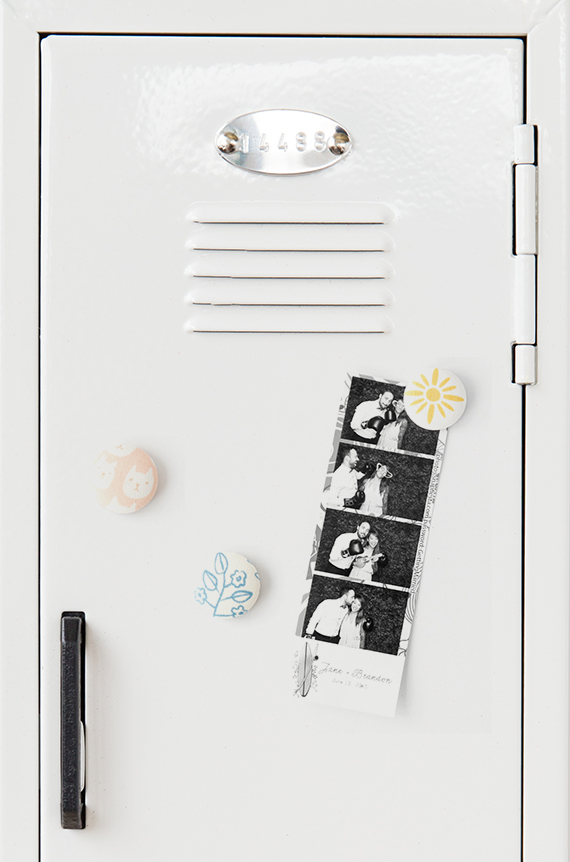 DIY simple and cute fabric locker magnets