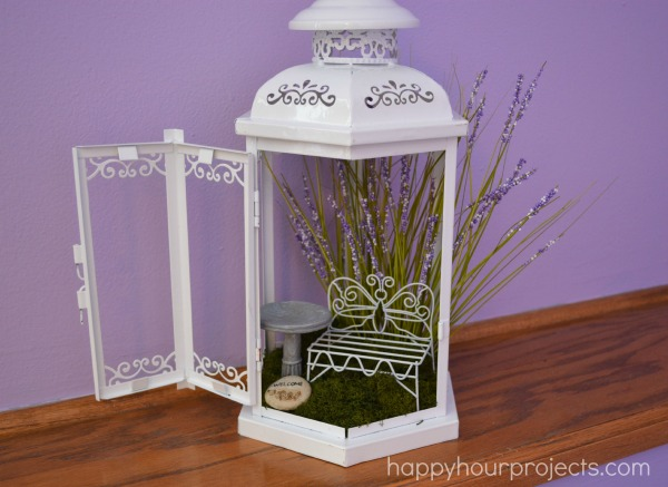 DIY fairy guest house of a lantern (via happyhourprojects.com)